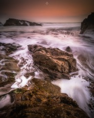 Morning Sea Glow (Augmented Reality Images (Getty Contributor)) Tags: canon clouds coastline cullen landscape leefilters longexposure morayshire morning rocks scotland seascape sunrise water waves