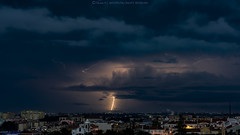 2016.12.03 - 182906 (NIKON D7200) [Amora] (Nuno F. C. Batista) Tags: clouds nuvens amora seixal portugal lusoskies lightning relâmpagos vendas novas thunderstorm storm trovoada sky nikon d7200 sigma severe weather fotography photography margem sul skies portuguese meteorology cumulonimbus