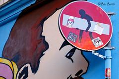 Roma. Pigneto. Street art by Solo, sticker art by Clet, Standard574, Fishes Invasion and... (R come Rit@) Tags: italia italy roma rome ritarestifo photography streetphotography streetart arte art arteurbana streetartphotography urbanart urban wall walls wallart graffiti graff graffitiart muro muri streetartroma streetartrome romestreetart romastreetart graffitiroma graffitirome romegraffiti romeurbanart urbanartroma streetartitaly italystreetart contemporaryart artecontemporanea artedistrada pigneto solo clet standard574 fishesinvasion sticker stickers stickerart stickerbomb stickervandal slapart label labels adesivi signscommunication roadsign segnalistradali signposts trafficsignals