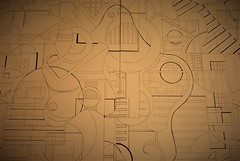 shape relationships - the best form of relationship (tillydavies1) Tags: drawing shape formal elements lines puzzle a0 narration fine art artist book estonia eka canvas paper
