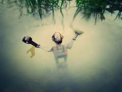 Drowning Droid (Wasi07815) Tags: water sad lego outdoor murky drowning droid awwwwwwwwww