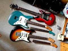 Variations On A Theme (Sumlin) Tags: electric japan vintage bass guitar diamond granada 70s projects 1970s et conrad tempo aria univox epiphone uc2 1802 mij et270 matsumoku et280