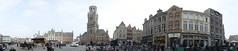 Brugges Grote Markt-360 degrees Panorama (SpirosK photography) Tags: panorama square stitch belgium grandplace brugge 360 bruges grotemarkt 360degrees  microsoftice