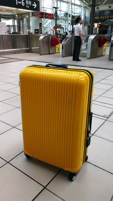 Traveling with my yellow case