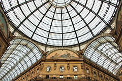 Galleria Vittorio Emanuele II (michael_hamburg69) Tags: italien roof italy milan glass mall shopping milano dach glas kuppel mailand galleriavittorioemanueleii
