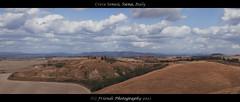 Crete Senesi, Siena, Tuscany, Italy (drbob97) Tags: italy panorama field italian panoramic toscana toscane italie slicesoftime mygearandme ascianocretesenesisienatuscanyitalyrocksmountainshillssloopingabandonhouseorangetreetreeslandscapefarmlandskycloudsdrbobdrbob97friendsphotographysilence