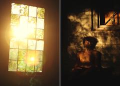 (Bindaas High) Tags: lighting light portrait selfportrait window face self 50mm diptych shadows f14 50mm14 gnarly mywork abandonedbuilding selfie diptychs diptico fixed50 artistsontumblr photographersontumblr bindaashigh abandonedcigarettefactory