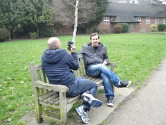 Pete interviewing Eric for his video blog