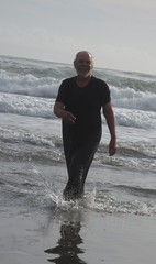 Drapy wet dresses 004. (Jack Williams) Tags: newzealand wet fun freestyle frolic auckland dresses nz meninskirts wetlook skirted meninfrocks frocks frolics menindresses mandress menstuff wetguy skirtlook
