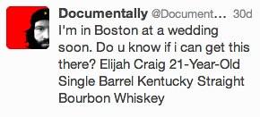 I'm in Boston at a wedding soon.