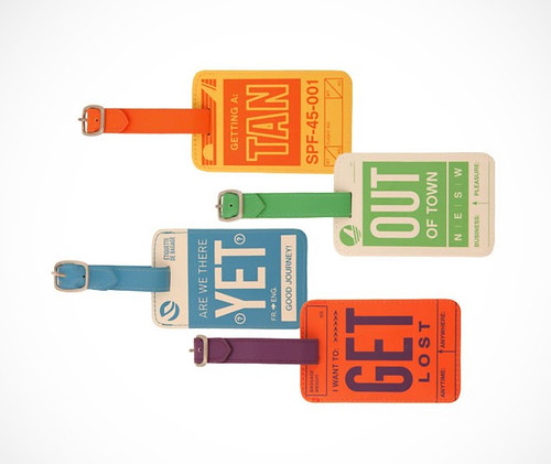 Flight 001 Vintage luggage tags