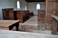 Langley Chapel, Shropshire (bodythongs) Tags: windows england english heritage church musicians table countryside wooden nikon shropshire box interior country gothic tudor altar restored restoration boxes elizabethan langley pews pulpit hamlet anglican protestant acton burnell protestantism jacobean wikimapia jacobethan gradeilisted d5100 bodythongs