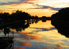 Sunset on the Canal (Rickvanman (on YouTube)) Tags: sunset golden canal barge richcolor