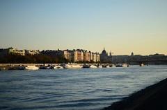 225 - Danube (IamJudyZ) Tags: blue sunset sky water river landscape island 50mm nikon europe hungary budapest ombre margaret nikkor danube buda pest margitsziget d7000
