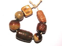 Handmade ceramic beads (Grubbi Ceramics) Tags: ceramic beads ceramics handmade charm bead pendant stoneware grubbi