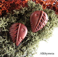 Leaves Obsession N7, stud earrings (Alkhymeia) Tags: wood autumn brown art fall nature earings leaves foglie forest spiral leaf al woods natural artistic handmade spirals unique ooak magic artesanal craft jewelry bijoux pasta jewellery polymerclay fimo fairy fantasy clay wicked gift copper handcrafted lobo swirl earrings wearable ideas magical stud pendant enchanted whimsical handcraft artesania wiccan elvish polymer premo bijouterie hechoamano arcilla argilla artigianato orecchini incantato artigianale polimer bizuteria sintetica polimerica perno bigiotteria arcillapolimerica fatato studearrings boscoso fatati incantati boschivo alkhymeia elfici