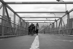 Williamsburg Bridge, Lower East Side (nschaden) Tags: nyc blackandwhite bw landscape wide williamsburg 20mm williamsburgbridge