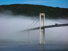 Tjeldsundbrua - Tjeldsund Bridge (Ggranvik) Tags: road morning bridge norway fog truck transport transportation bro nor vei morgen tke troms nordland tjeldsund lastebil sknland