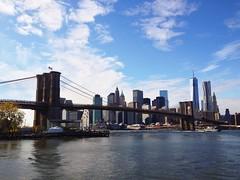 DUMBO (mlee525) Tags: nyc travel bridge newyork brooklyn manhattan dumbo brooklynbridge iphone vscocam uploaded:by=flickrmobile flickriosapp:filter=nofilter
