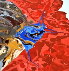 Gold and silver Butterfly - Abstract Poured Paintings (georgestephene41) Tags: abstractseascape abstractbutterflies abstractpouredpainting abstractpouredpaintings