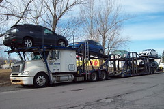 Livingston Freight Vehicle Transportation ex SeaRail Freightliner car carrier auto transporter Ottawa, Ontario Canada 03152010 ©Ian A. McCord (ocrr4204) Tags: ontario canada truck kodak ottawa camion vehicle pointandshoot mccord trucking easyshare c813 ianmccord ianamccord
