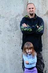 Tough and Silly (Vegan Butterfly) Tags: family silly love girl goofy daddy kid funny dad child faces father humor daughter tough