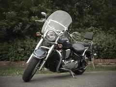 Kawasaki VN900 (BIKEPILOT, Thx for + 6,000,000 views) Tags: blue bike photoshopped surrey motorcycle custom cruiser kawasaki farnham twowheels vn800 weybourne