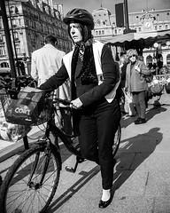 biking lady (mouzhik) Tags: paris bike bicycle canon noiretblanc bicicleta bici bicyclette fahrrad parijs vlo pars rower bicicletta zemzem  muzhik pary mujik parys    pariisi urbanlifeinmetropolis    biciclo parizo bikinglady paris9 moujik lapetitereine  mouzhik parisix   pars e functionvsstyle stylevsfunction prizs