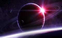 Saturn-Sunlight-Pink-Effect (GurshobitBrar) Tags: blue red galaxy planets newworlds