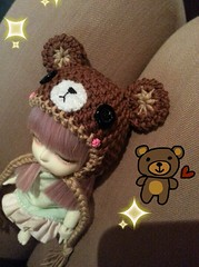 Teddy Bear hat (yuurin ~) Tags: bear baby cute yellow doll teddy handmade ns crochet towel yarn sd marshmallow tiny bjd dollfie volks yuu abjd rin yuh atelier mueca latidoll ganchillo lati yosd yotenshi