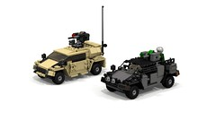 More Polecats (Corvin Stichert) Tags: road car army europe mine lego 4x4 military navy ground scout off special zeus vehicle marines humvee hmmwv forces mobility ambush protected armed fennek resistant mrap