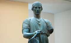 Charioteer of Delphi, bust front
