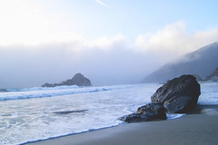 Big Sur, CA (Alesha A.B.) Tags: ocean california sunset seascape beach nature horizontal landscape keyholerock