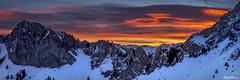 Ciel de Feu (StephAnna :-)) Tags: winter sky panorama mountain alps sunrise fire glowing leverdesoleil feux rochersdenaye coldejaman stephanna