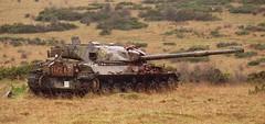 Tank Target, Imber Ranges (Hammerhead27) Tags: old training army junk war gun tank shot military machine cannon target vehicle fighting wreck mbt derelict armour relic chieftain imber saliburyplain
