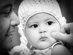 seriously~cute!! (e h s a n) Tags: portrait baby blackwhite olympus malaysia kualalumpur ep2 rokkor familyportraiture microfourthird minoltamcrokkorxpg50mmf14