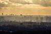 Abend über dem Ruhrgebiet (bernd obervossbeck) Tags: evening abend view aussicht eveningsky gelsenkirchen ruhrgebiet herne abendhimmel eveninglight ruhrarea abendlicht herten haldehoheward ef70200mmf4lusm