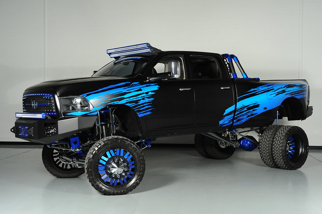 truck dallas dodge ram forces 2012 3500 dually americanforce blkblue amerianforcewheels