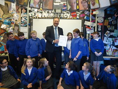 "Stephen Mosley MP visits Year 6 pupils at Highfield Primary School • <a style=""font-size:0.8em;"" href=""http://www.flickr.com/photos/51035458@N07/12119442064/"" target=""_blank"">View on Flickr</a>"