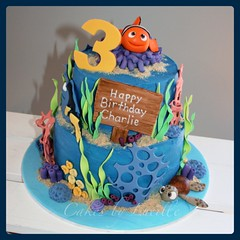 Finding Nemo (1) (cakesbylucille) Tags: birthday party cake nemo handmade tasmania edible dory launceston findingnemo decorator fondant buttercream gumpaste decoratedcake cakedecorating nemocake findingnemocake customcakes noveltycakes launcestoncakedecorator cakesbylucille