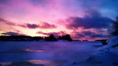 Wonderful sun (speederpoussin) Tags: sunset sea sky sun snow ice colors finland frozen violet baltic finlande