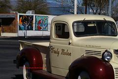1939 Plymouth truck and murals (tat2dqltr) Tags: truck mural tucson tucsonarizona