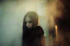 (emmakatka) Tags: portrait woman fog night dark hair big eyes long smoke grain steam creepy lipstick emmakatka