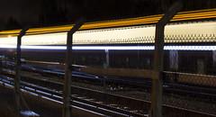 long exposure (jacksonphotgraphy) Tags: new b light motion train fence lights j movement stream long exposure photographer post blind ben buckinghamshire engineering rail railway jackson network streams bucks engineer tfl dft amersham