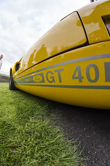 GT 40 (Steven Vacher) Tags: car cars goodwoodbreakfastclub 2014 4may2014 goodwood westsussex supercar yellow ford fordgt40 gt40 samyang 8mm wideangle savage savagephotography photography stevenvacher vacher
