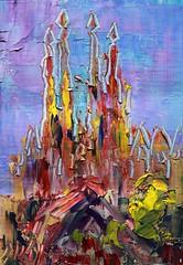 189-14 (Arturo Espinosa) Tags: barcelona cityscape arty gaudi sagradafamilia oiloncanvas oilpaletteknife