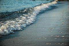 Sunshine on the beach (Wht24) Tags: summer france beach sunrise dawn nikond70 cannes palmbeach bayofcannes