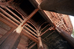 Nandaimon (iainwalker) Tags: red statue japan temple gate timber religion buddhism structure scuplture column nara todaiji guardian 2014 nandaimon ungyo maingate aun greatsouthgate todaijitemple nikond7100