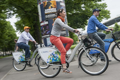 Participants during the Cultural Bicycle Tour of Leipzig