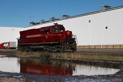 Reflections on an Alco (gsebenste) Tags: am trains arkansas fortsmith 57 alco arkansasandmissourirailroad